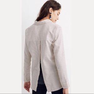 •Madewell•ex-boyfriend striped flannel button back